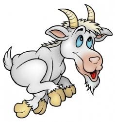 Running goat vector