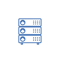servers line icon concept servers vector image