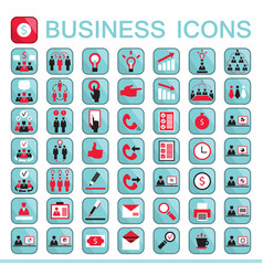 set of web icons for business finance vector image