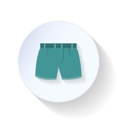 Shorts flat icon vector image