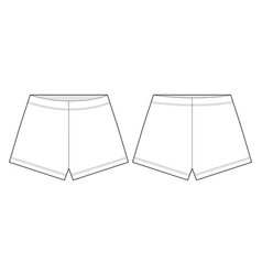 Shorts technical sketch unisex outline shorts vector