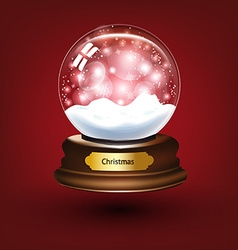 Snow Globe Background vector