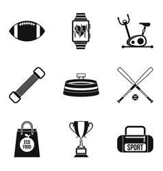 sport battles icons set simple style vector image