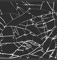 surface broken glass texture sketch shattered vector image