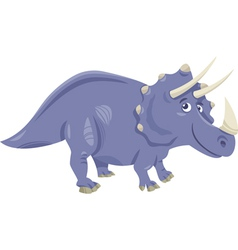 Triceratops dinosaur cartoon vector