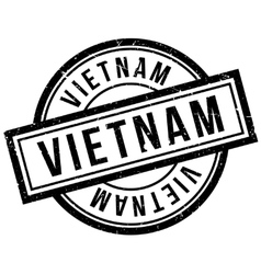Vietnam rubber stamp vector