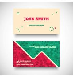 vintage business card set vector image