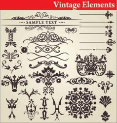 Vintage elements vector