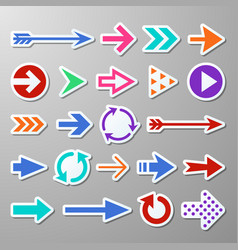 website right arrow stickers directional arrows vector image