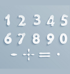 white paper digits vector image