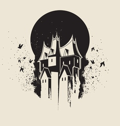 Witch castle vector