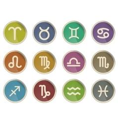 Zodiac signs icon set vector image