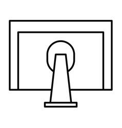 monitor computer desktop icon vector image