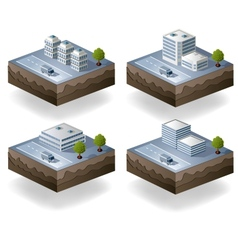 Set of icons isometric vector image vector image