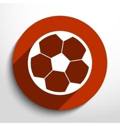 soccer ball web flat icon vector image vector image