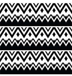 Tribal seamless pattern aztec black and white vector image