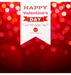 Valentines Day type design over red bokeh vector image
