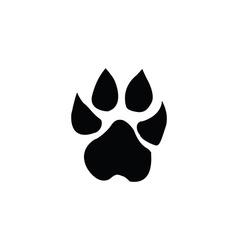 lion footprint vector image
