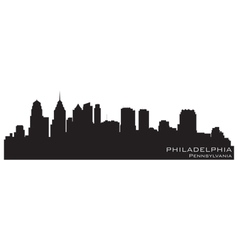 Philadelphia Pennsylvania skyline Detailed silhoue vector image vector image