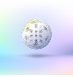 Ball of letters vector image