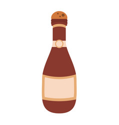 champagne bottle icon image vector image