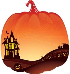 Halloween Double Exposure background vector image