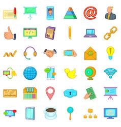 management icons set cartoon style vector image