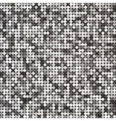 Silver abstract retro vintage pixel mosaic vector