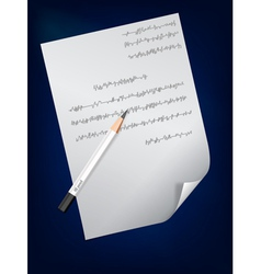 a page of handwritten text and pencil on it vector image vector image