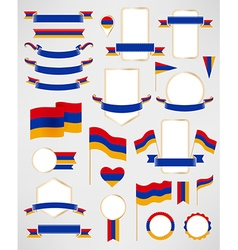 Armenia flag decoration elements vector image