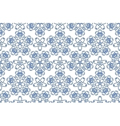 Blue ornament pattern vector image vector image