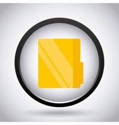 File icon Folder design graphic vector image