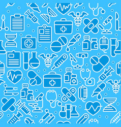Medical blue background vector