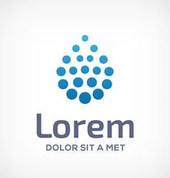 Water drop symbol logo icon vector