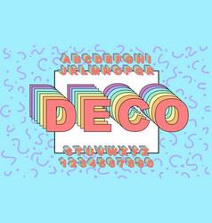 3d bold retro font vintage alphabet vector