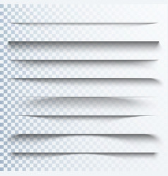 3d transparent shadows effect page dividers with vector image