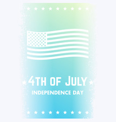 4th of july independence day of the united states vector image