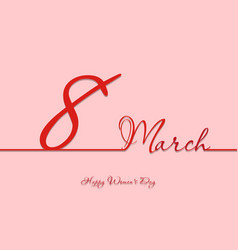 8 march line banner happy womens day decoration vector image