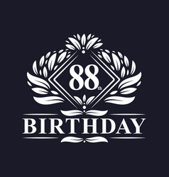 88 years birthday logo luxury 88th birthday vector