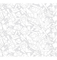 Abstract geometric form seamless pattern chaotic vector