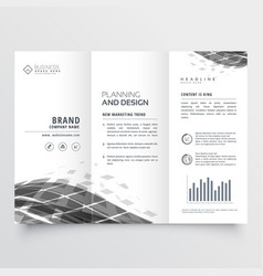 Abstract trifold brochure design template vector