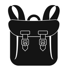 Adventure backpack icon simple style vector