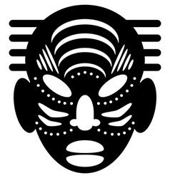 African Masks tribal design vector image