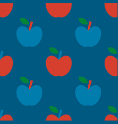 apple simple seamless pattern vector image