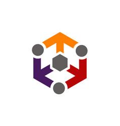 Arrow people distribution marketing vector
