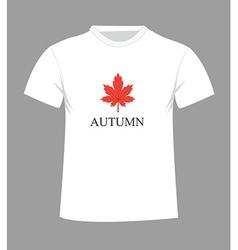 autumn t-shirt vector image