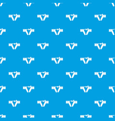 bikini pattern seamless blue vector image