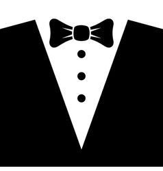 Black Tuxedo with Bow Tie vector image