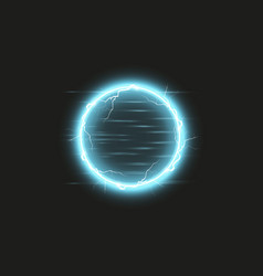 blue round frame shining circle banner isolated vector image