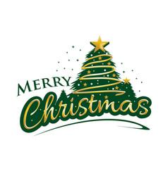 Bold merry christmas vector